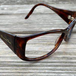 Oscar De La Renta Eye Wear Frame Brown Sunglasses